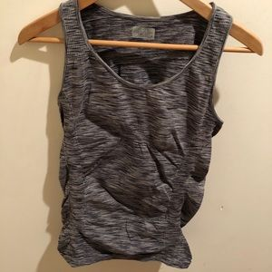 Charcoal gray and black tank top